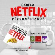 Caneca Personalizada Netflix Sofá e Pizza