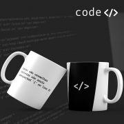 Caneca Unexpected Rosas e Violetas Programador