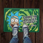 Capacho Em Vinil Rick and Morty Come In