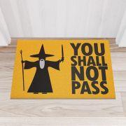Capacho Senhor dos Aneis you shall not pass