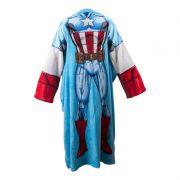 Cobertor Com Mangas Infantil Microfibra Capitão America