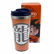 Copo Viagem Dragon Ball Goku Com tampa 450ml