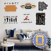 Kit 6 Placas Friends + Moldura Grátis