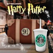 Kit Harry Potter Bolsa Hogwarts + Copo Três Vassouras
