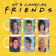 Kit Canecas F.R.I.E.N.D.S Personagens