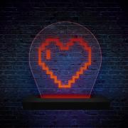 Luminária de LED Coração 8 Bits