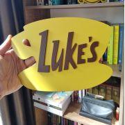 Placa Decorativa Quadro Lanchonete Do Lukes Bar