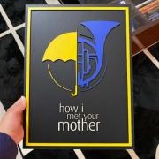 Placa How i met Your Mother em Alto Relevo
