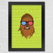 Poster Chewbacca com Moldura Star Wars
