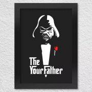 Poster com Moldura Darth Vader Star Wars Poderoso Chefão