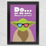 Poster com Moldura Geek Side Mestre Yoda Star Wars
