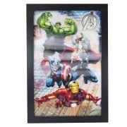 Quadro 3d Avengers