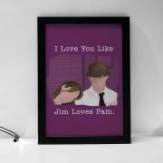 Quadro Jim e Pam