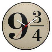 Relógio de Parede Ecológico Plataforma 9 3/4 Harry Potter