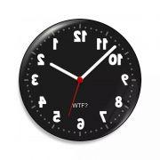 Relógio de Parede Geek Anti horário - 20 cm