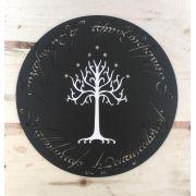 Placa Artesanal Senhor dos Aneis Um Anel para a Todos Governar Árvore de Gondor