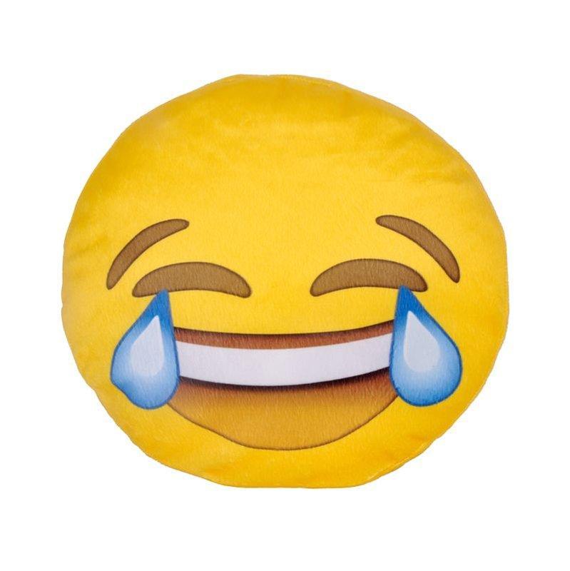 Almofada Emoji Chorando de Rir