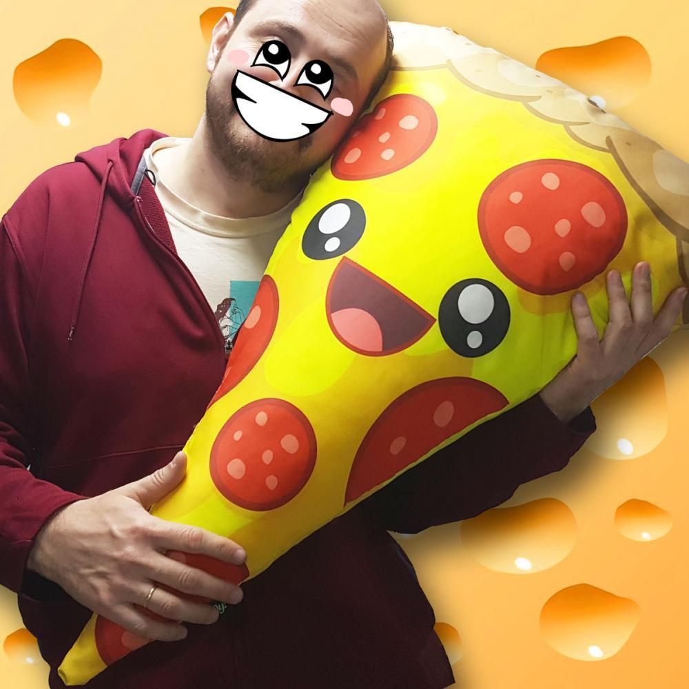 Almofada Gigante Pizza Feliz