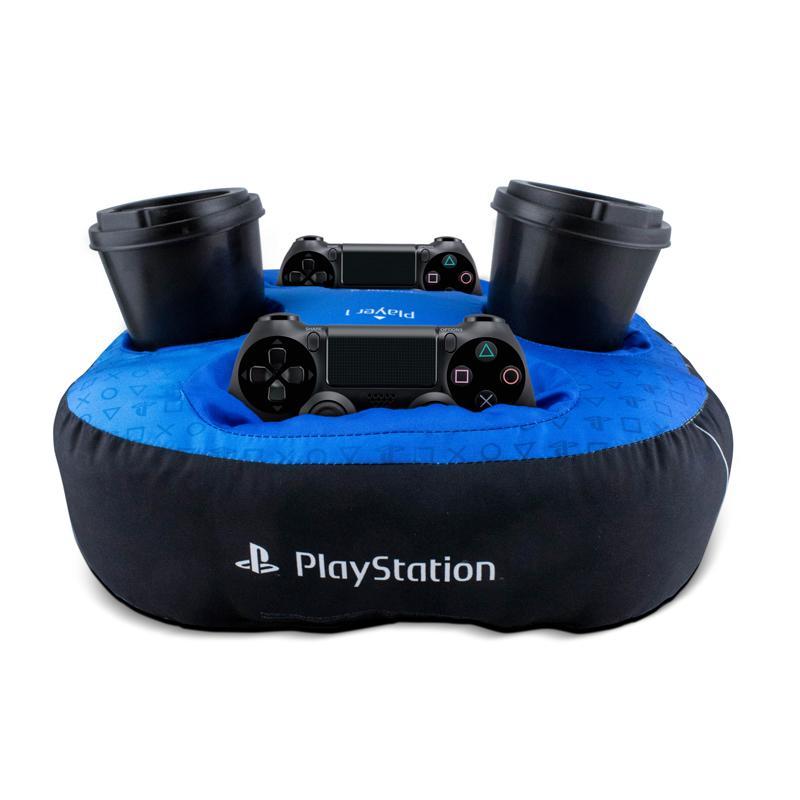 Almofada Porta Controle e Copos Oficial Playstation