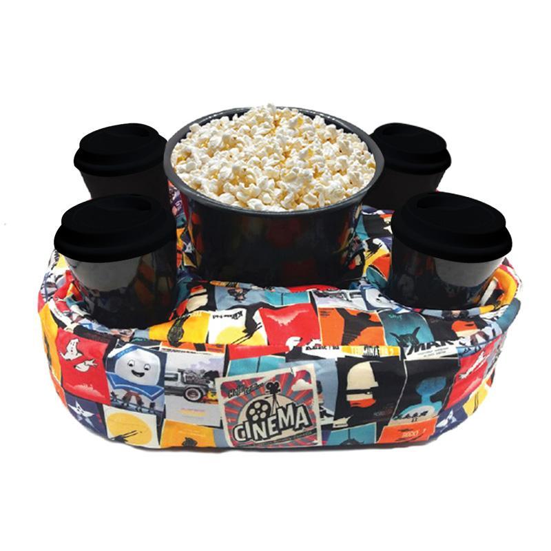 Almofada Porta Pipoca Cinema Kit 1 Balde 4 Copos
