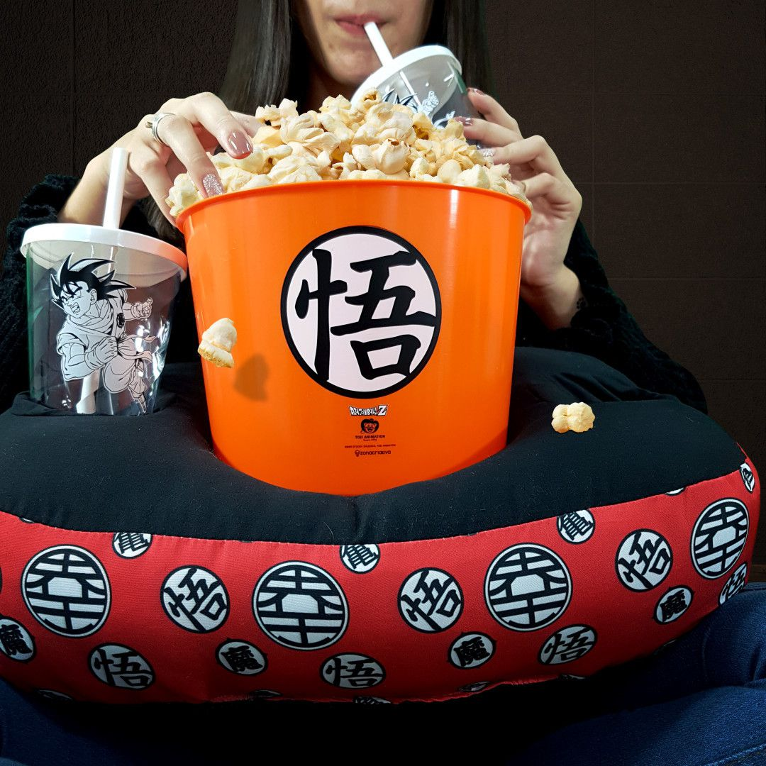Almofada Porta Pipoca Dragon Ball Goku