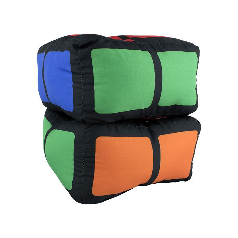 Almofada Porta Pipoca Formato Cubo Magico