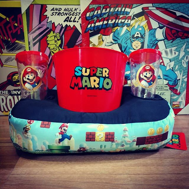Almofada Porta Pipoca Super Mario