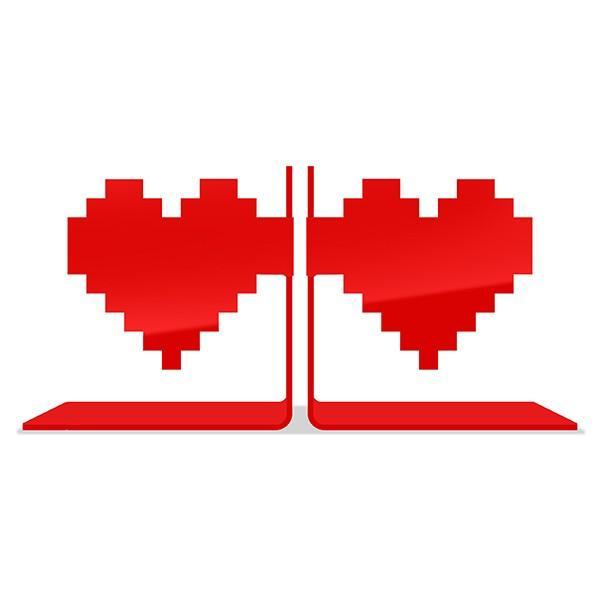 Aparador Porta Livro Coração Pixel