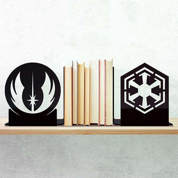 Aparador Porta Livros Darkside Vs Light Star Wars