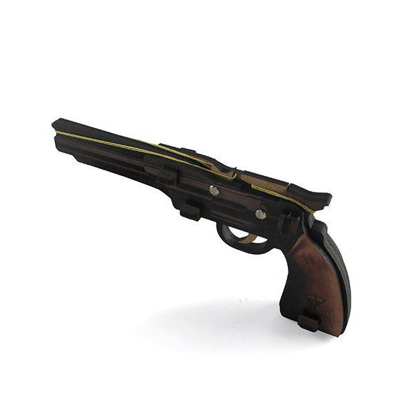 Arma Arminha Pistola de Elástico Hopper MDF