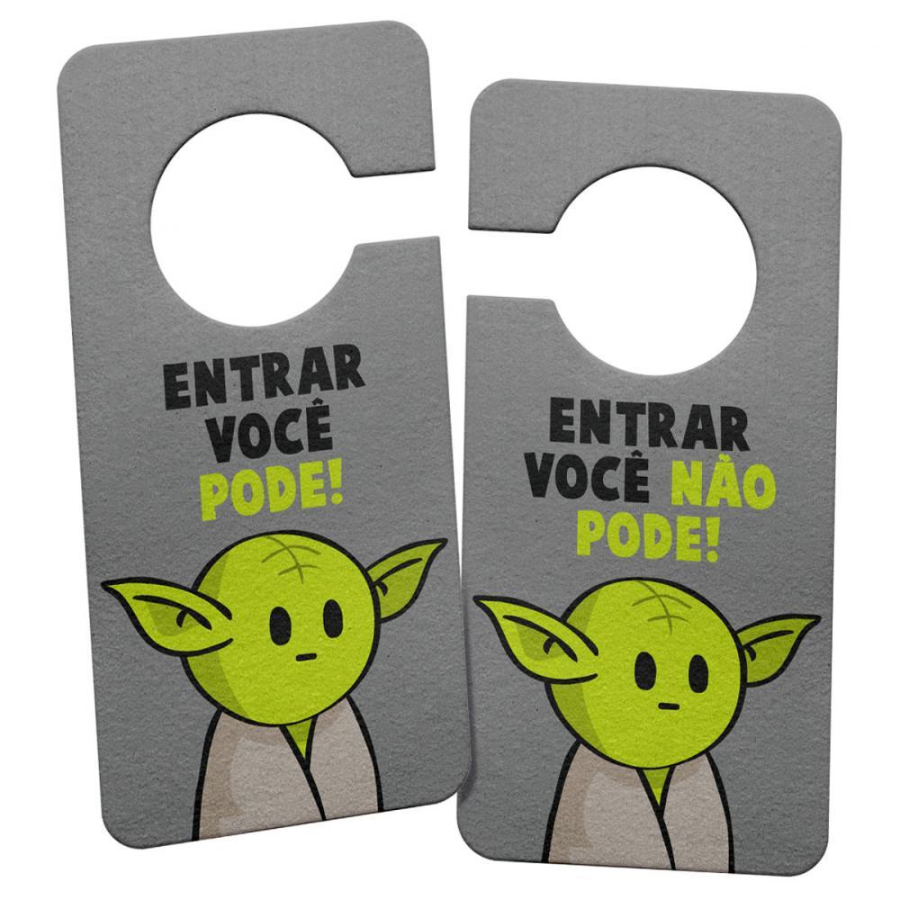 Aviso de Porta Ecológico DrPepper Mestre Yoda Star Wars