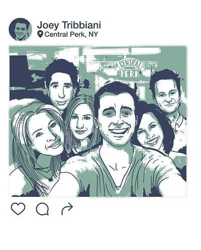 Blusa Feminina babylook Instagram Friends