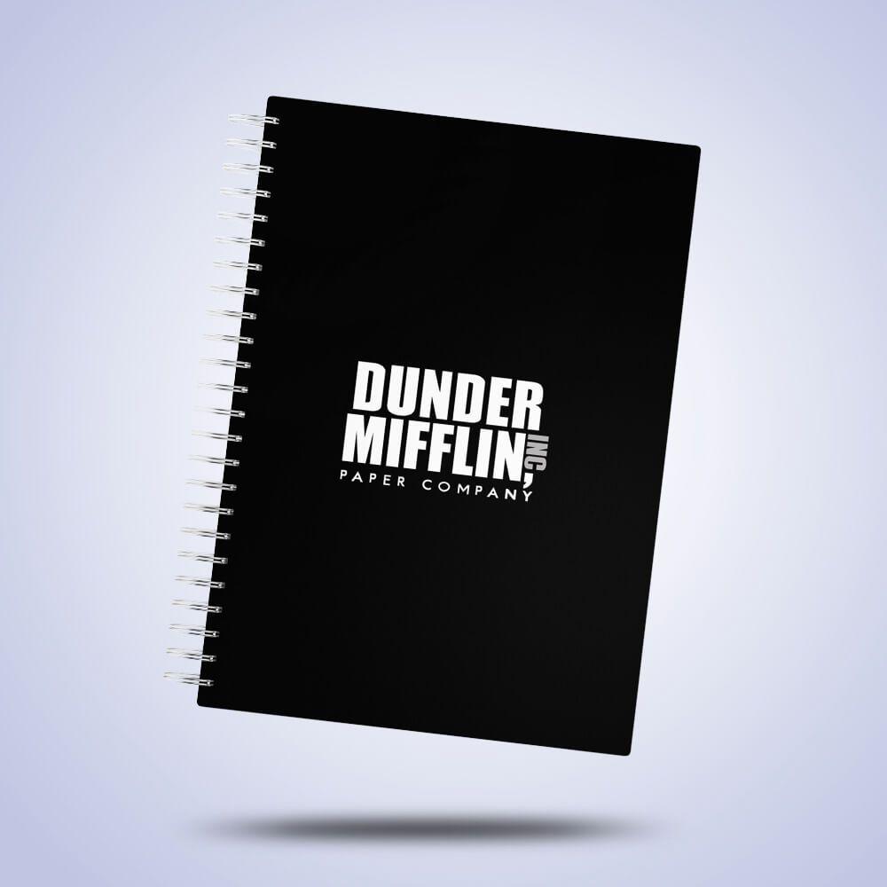 Caderno de Anotações Dunder Mifflin Capa Dura