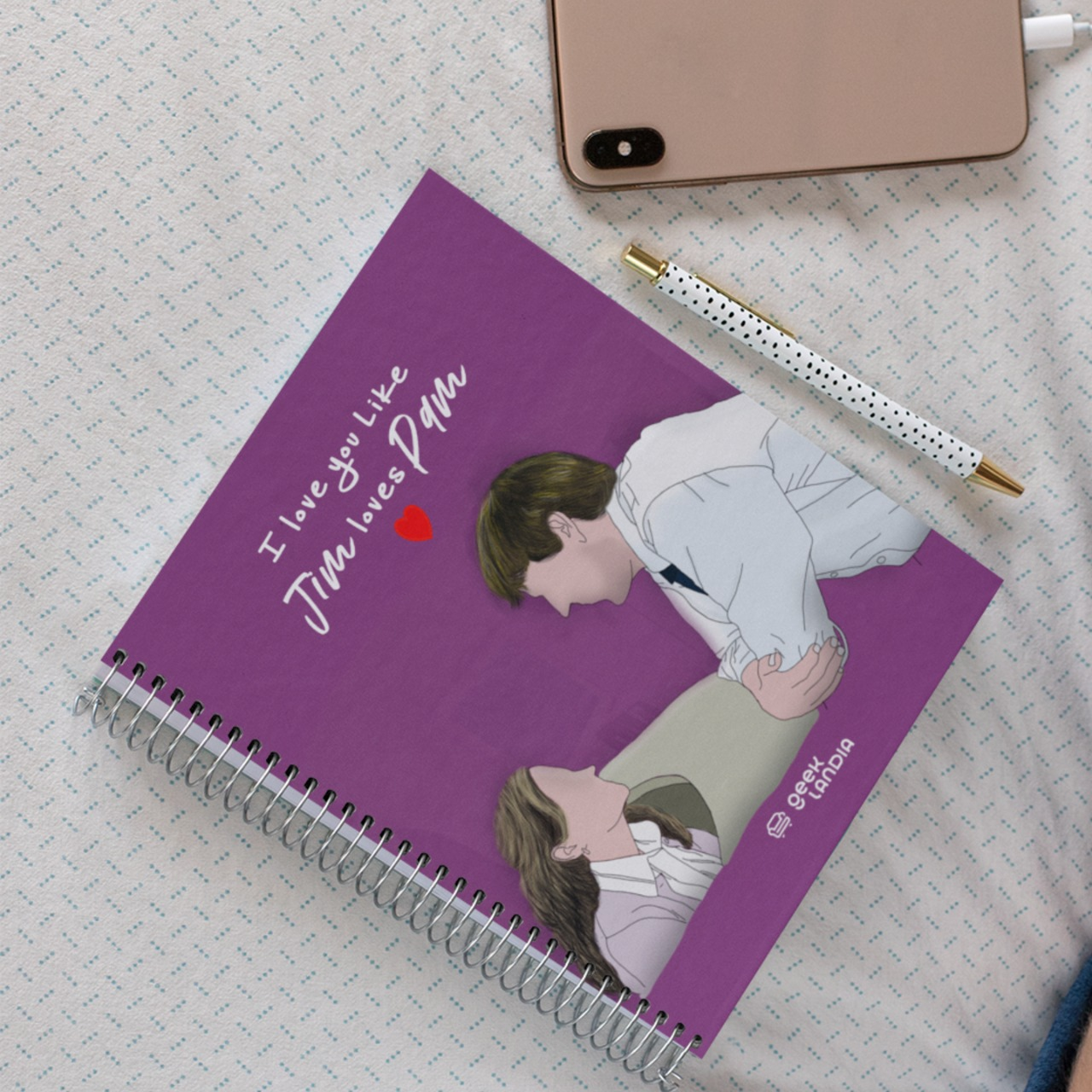 Caderno Jim Loves Pam The Office