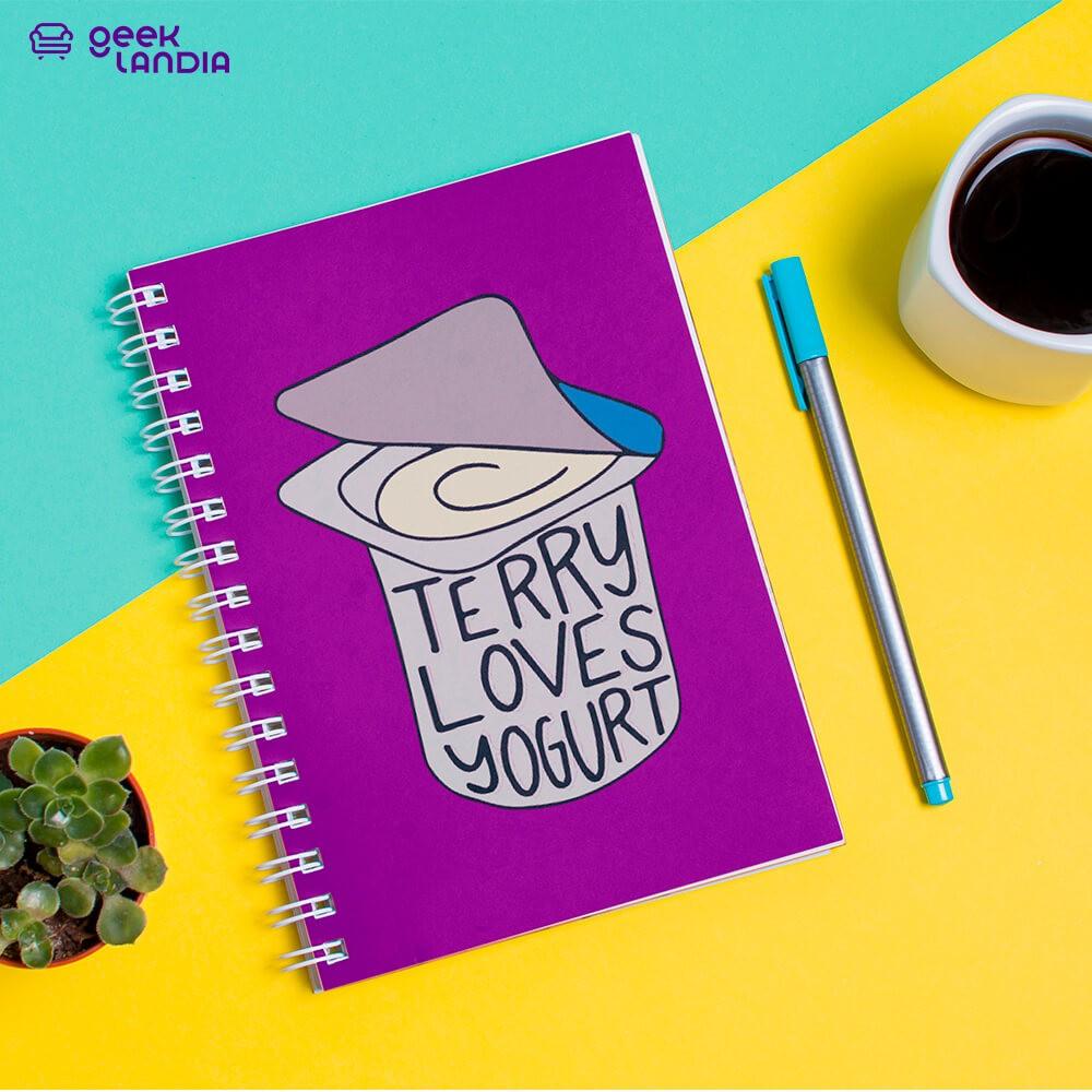 Caderno de Anotações Terry Loves Yogurt