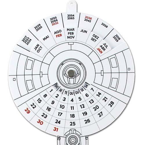 Calendário 2018 Star Trek Plastico Geek Nerd