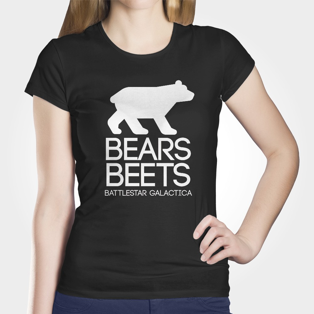 Camiseta Bears Beets Battlestar Galactica Ilustrado The Office