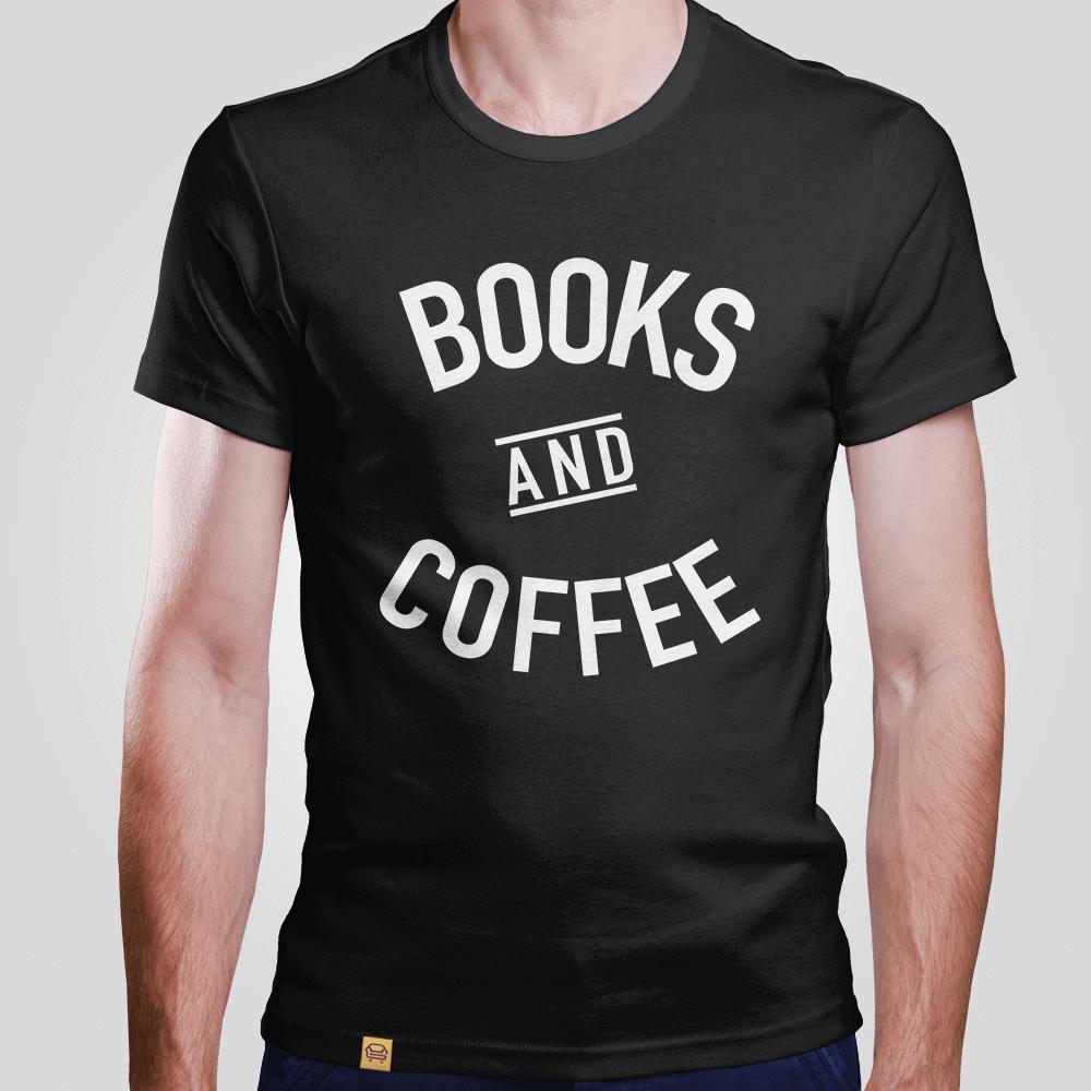 Camiseta Books And Coffee