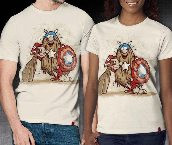 Camiseta Capitão América Masculina