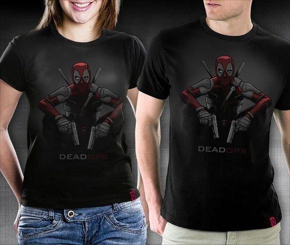 Camiseta Deadpool Masculina