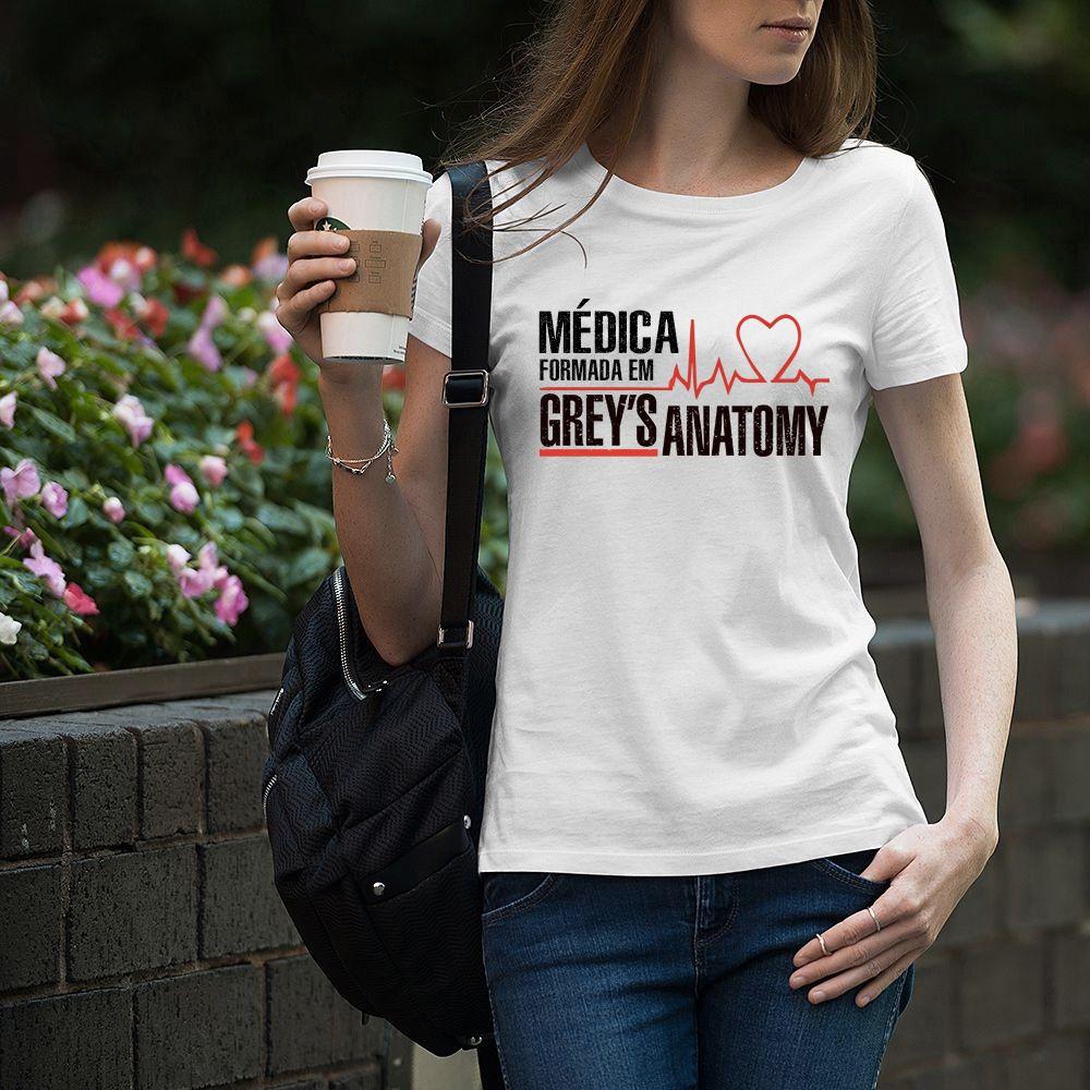 Camiseta Feminina Baby Look Formada em Greys