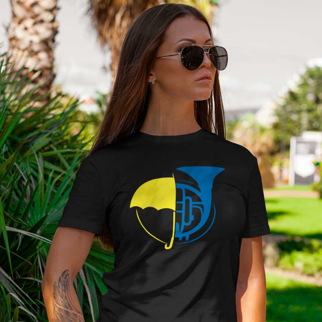 Camiseta Guarda Chuva Amarelo trompete Azul HIMYM