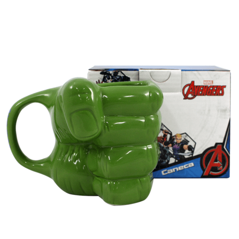 Caneca 3D Hulk Esmaga Oficial Marvel 350ml