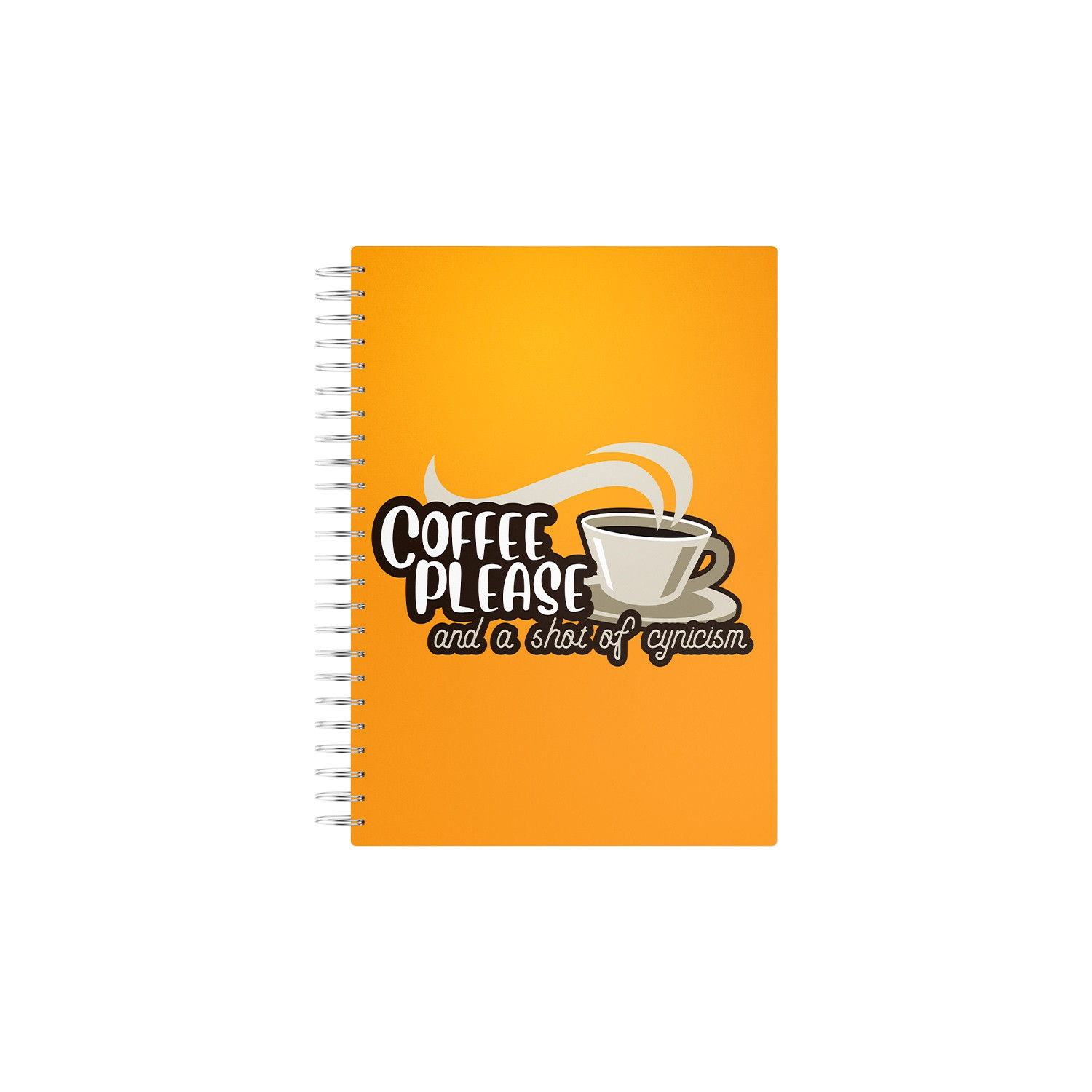 Caderno Coffee Please ans a Shot of Cinicism
