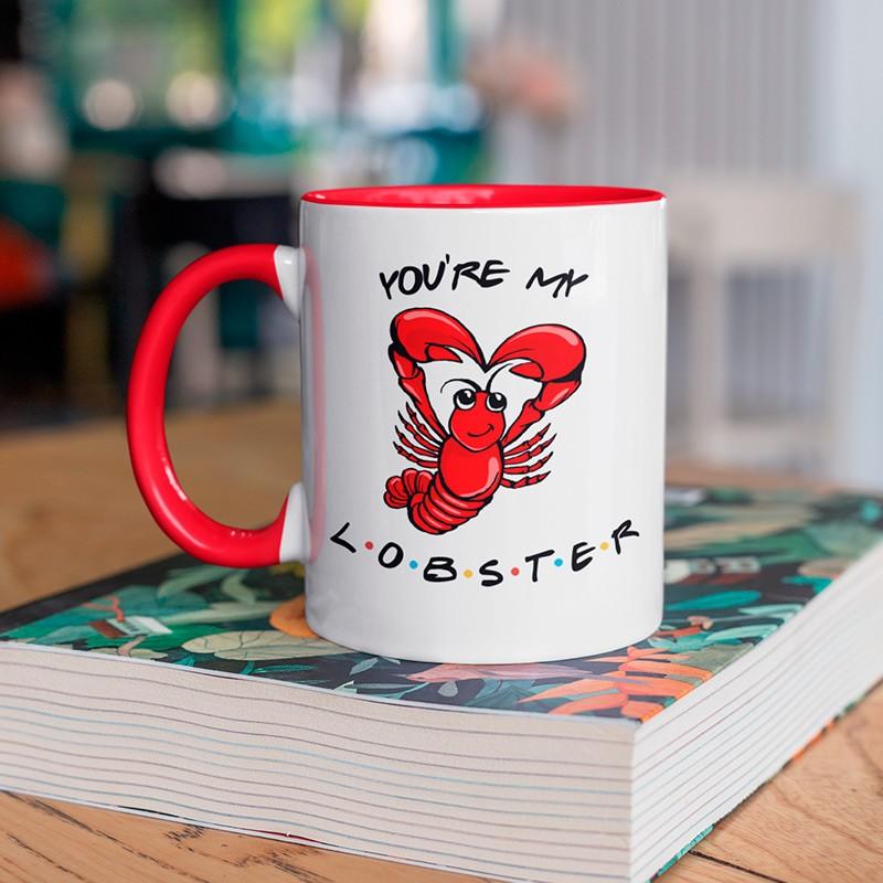 Caneca Com Alça e interior Vermelho Lobster
