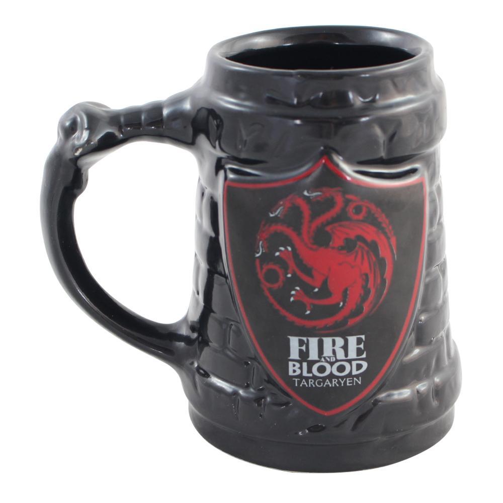 Caneca Game Of Thrones Escudo Targaryen Oficial