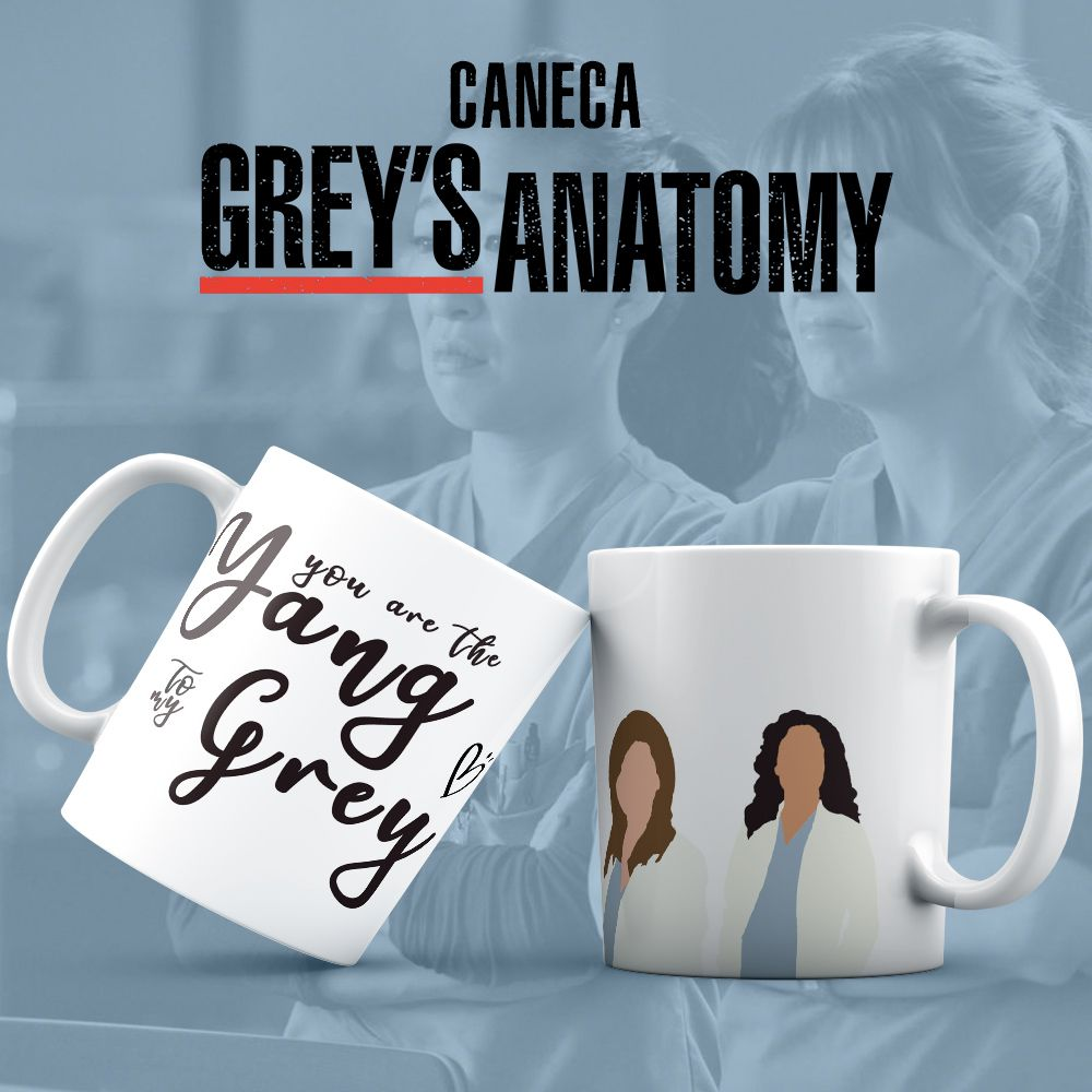 Caneca Grey's Anatomy Yang e Grey