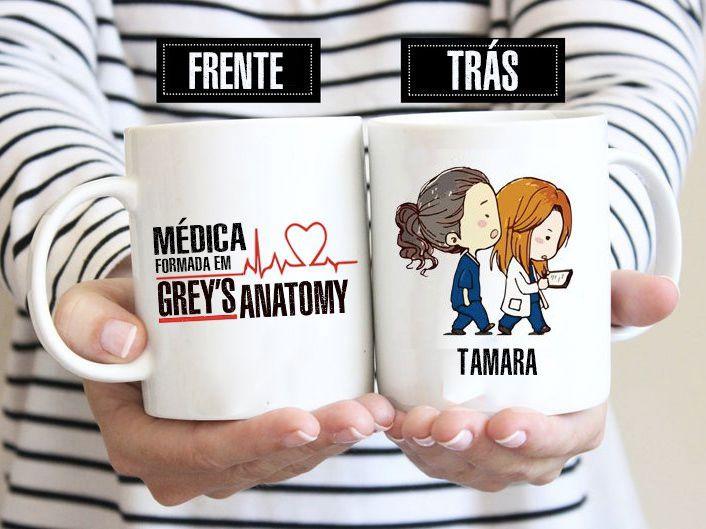 Caneca Médica Greys Anatomy Personalizada