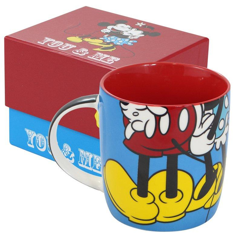 Caneca Mickey E Minnie Porcelana Oficial Disney