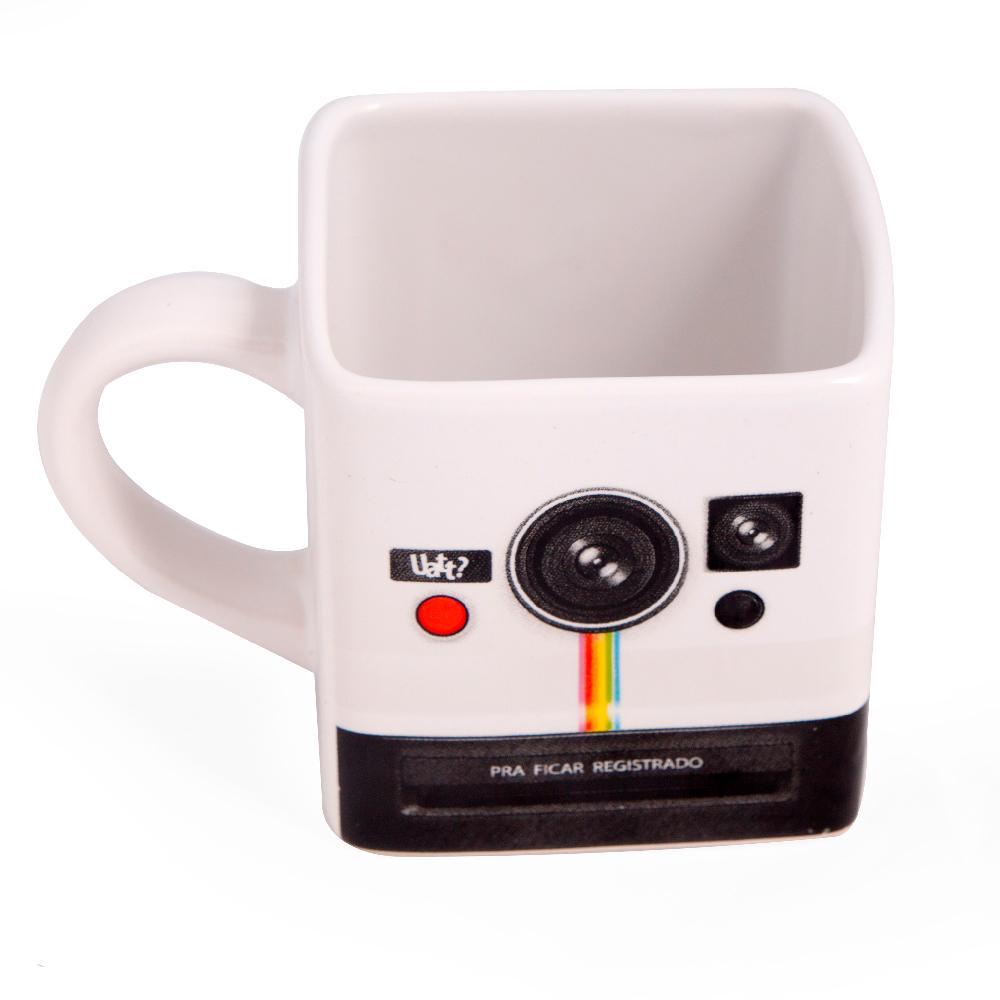 Caneca Quadrada Retro Polaroid